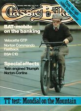 Classic Bike Oct 1983. BSA C10, Velocette GTP, Norton Commando fastback, BAT