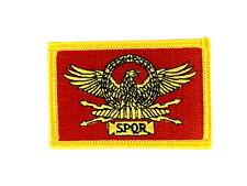 patch ecusson brode thermocollant rome spqr legion romaine drapeau guerrier