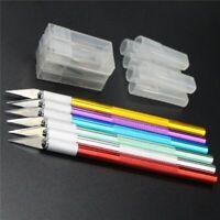 metal scalpel lame de cutter avec 6pcs gravure couteau de antidérapant
