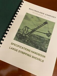BUCYRUS-ERIE Vintage Stripping Shovels Complete Book Specs Diagrams +60p 50s/60s