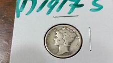 U S COIN 1917 - S  Mercury Dime  # 1