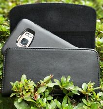 For Samsung Galaxy s8 XL BELT CLIP LEATHER HOLSTER FITS OTTERBOX CASE ON PHONE