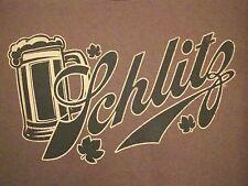 Schlitx Irish Beer St. Patricks Day Liquor College Party T Shirt L