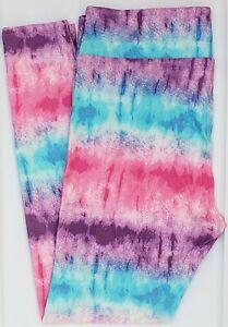 TC LuLaRoe Tall & Curvy Leggings Cute Pink Purple Mint Green Tie Dye NWT G18