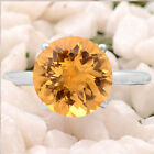 Natural Golden Citrine 925 Sterling Silver Ring s.8.5 Jewelry E130