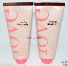 2 New Victoria's Secret LOVE IS HEAVENLY Body Lotions 6.7 fl oz