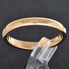 3mm Gold Plated Tungsten Women Wedding Band Ring High Polished Classic Dome TR