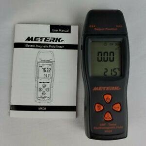Meterk MK08 EMF Meter Digital Electromagnetic Radiation Tester Detector