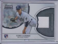 CORY LUEBKE 2011 Bowman Sterling Rookie Relics Game Jersey #CL   (C1579)