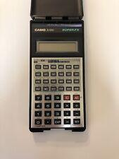 Vintage Casio FX-100D  Super-FX calculator  with Case works tested