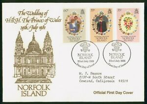 Mayfairstamps Norfolk Islands FDC 1981 Prince Wales Lady Diana Combo First Day C