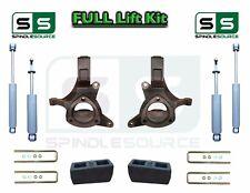 "1999 - 2007 Chevrolet Silverado GMC Sierra 1500 Spindle Lift Kit 4"" / 4"" SHOCKS"