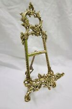 """Solid Brass Decorative Brass Easel 9"""" ~ Picture Stand Menu Stand"""