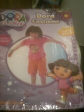 DORA THE EXPLORER  COSTUME  +BRACELET+ EVA HAIR HEADBAND   AGE 3/5 NICKELODEON