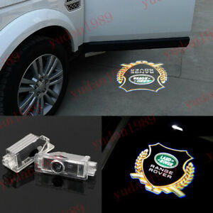 2x LED Car Door PProjector Ghost Logo Light For Land Rover Range Rover 2003-2019