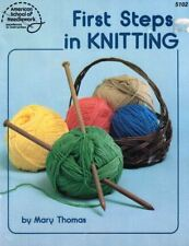 First Steps in Knitting American School of Needlework 5102 Booklet