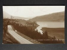 Derbyshire: Road from WOODHEAD TO GLOSSOP & Torside Reservoir - Old RP Postcard
