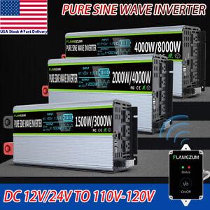 3000W/4000W/8000W Pure Sine Wave Power Inverter 12V/24V To 110V 120V Converter