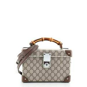 Gucci Bamboo Globe-Trotter Vanity Case GG Coated Canvas