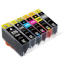 6PK PGI-225 CLI-226 Ink Cartridges for Canon PIXMA MG6120 Printer w/ Grey