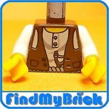 B043B Lego Torso Desert Vest over White Shirt Slingshot - RARE - 5987 NEW
