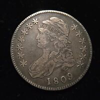 1809 Capped Bust Silver Half Dollar Choice XF Extremely Fine Overton Type