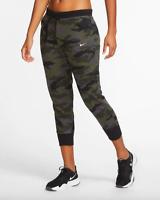 Nike Dri-FIT Get Fit Womens Camo Training Pants Size M  Thunder Grey CZ1449 082