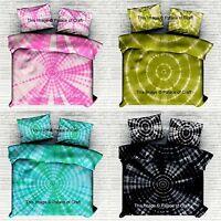 Tie Dye Shibori Cotton King Duvet Doona Cover Hippie Mandala Quilt Cover Set
