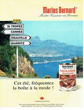 Publicité Advertising 117  1998  soupe de poissons provençale Marius Bernard