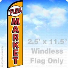 FLEA MARKET - WINDLESS Swooper Flag Feather Banner Sign 2.5x11.5 - yf
