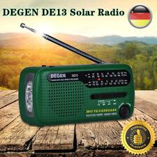 DEGEN DE13 Kurbelradio-Weltempfänger FM AM SW Kurbeldynamo Solare