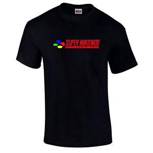 Super nintendo Snes Console Logo Mario Zelda Rétro Âne Vintage Kong T-Shirt