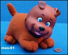 Perro googly marrón 15 cm 60er años vinilo cabeza Dog decorativas