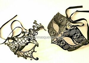 Masquerade Phantom eye mask Couple pair Wedding Engagement Anniversary Party