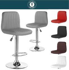 Exclusiver Barhocker -RELAX- mit Lehne Kunstleder 2er Set Barstuhl bar stool