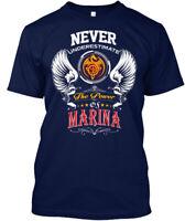 Never Underestimate Marina - The Power Of Hanes Tagless Tee T-Shirt