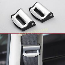 Vehicle Seat Safety Belt Clip Adjuster Stopper Shoulder Comfort Accessory Silver