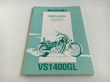 Suzuki VS 1400 GL Owner's manual (1993)