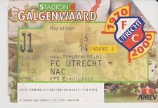 Sammler Used Ticket / Entrada FC Utrecht v NAC Breda 10-12-2000