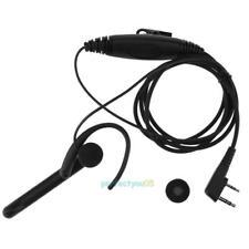 2 Pin Ear Bar Earpiece w/ Mic PTT Headset for Kenwood BAOFENG TYT WOUXUN Radio