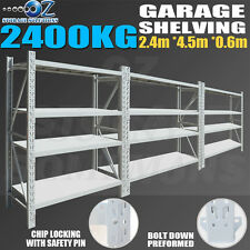 Longspan Shelving Warehouse Racking Garage Storage Shelves 2.4M x 4.5M x 0.6M