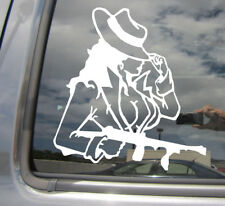 Sexy Gangster Lady Bootlegger Tommy Gun - Car Window Vinyl Decal Sticker 10530