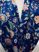 100% Silk Scarf Shawl Wrap created w Liberty Of London Satin 'Rachel Meadow'