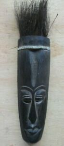 "AFRICAN WOOD 16"" MASK HAND CARVED HOME DECOR TRIBAL ART"