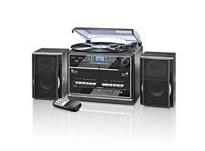 Kompaktanlage DAB+ mit Plattenspieler, Kassette, CD, USB, SD, FM & DAB+