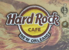 Hard Rock Cafe NEW ORLEANS 2016 HRC Logo PATCH on Card NEW! Iron/Sew ON!