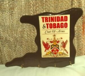 Trinidad & Tobago Coat of Arms Shape of the Islands Cup or Key Holder