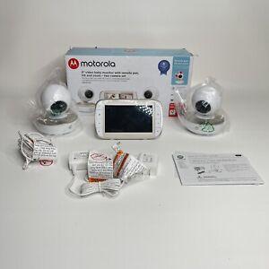 "Motorola MBP50-G2 Portable 5"" Video Baby Monitor with 2 Cameras 2 way talk"