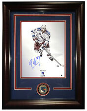 Rick Nash Signed 16x20 Platinum Photo FRAMED w/ NY Rangers Coin Auto Steiner