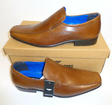 Mens Leather Tan Brown Slip On Casual Formal Shoes New RRP £45 UK Sizes 7-11